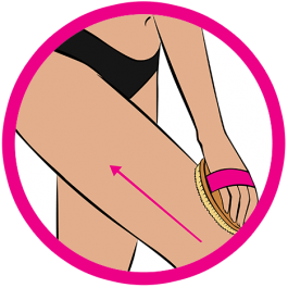 dry brushing legs icon