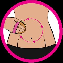 dry brushing tummy icon